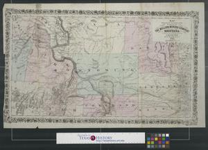 Primary view of object titled 'Map showing the location of the property of the Bullion Mining Company of Montana'.