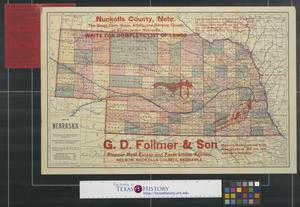 Primary view of object titled 'Map of Nebraska.'.
