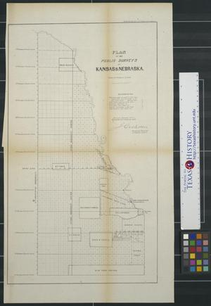 Primary view of object titled 'Plan of the public surveys in Kansas & Nebraska'.
