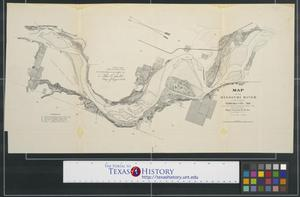Primary view of object titled 'Map of the Missouri River in the vicinity of Nebraska City, Neb.'.