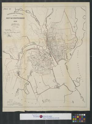 Primary view of object titled 'Sewerage districts of the city of Providence, 1875'.