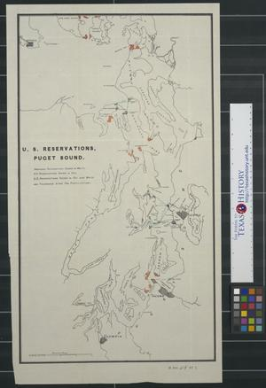 Primary view of object titled 'U. S. reservations, Puget Sound.'.