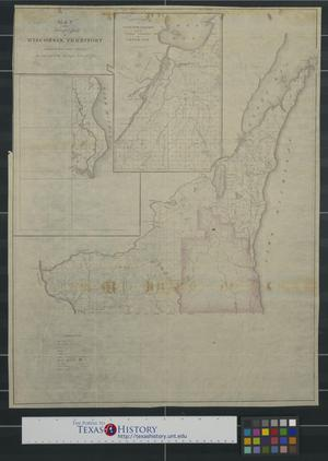 Primary view of object titled 'Map of the surveyed part of Wisconsin Territory'.