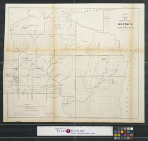 Primary view of object titled 'Sketch of the public surveys in Wisconsin and territory of Minnesota.'.