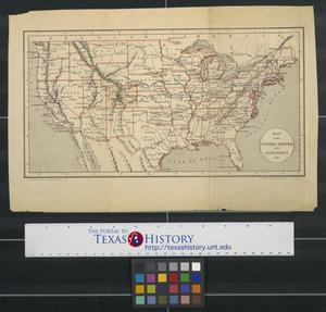 Primary view of object titled 'Map of the United States and territories.'.