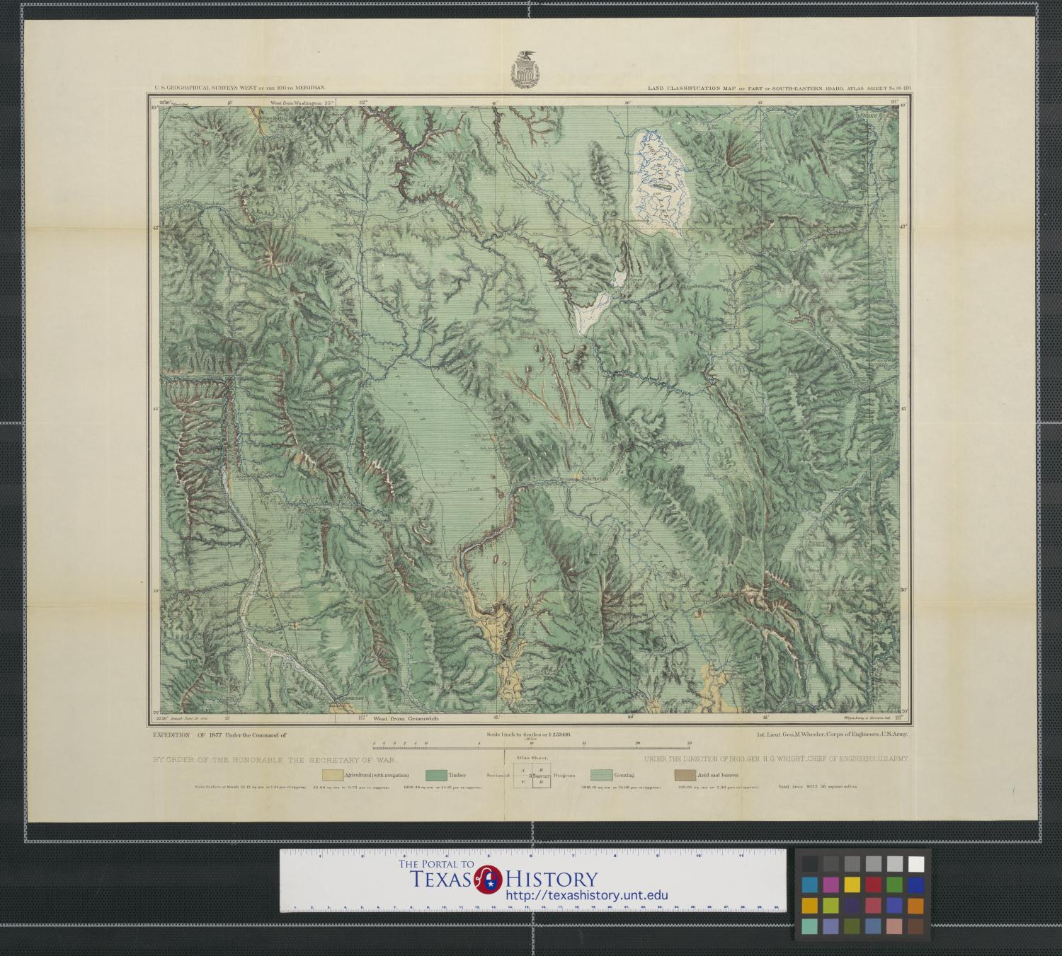 Land classification map of part of South Eastern Idaho : atlas sheet no.32(D).                                                                                                      [Sequence #]: 1 of 2