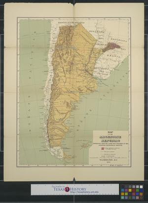 Primary view of object titled 'Map of the Argentine Republic'.