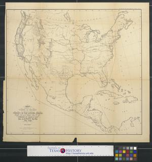 Primary view of object titled 'Map exhibiting the lines of march passed over by the troops of the United States during the year ending June 30th 1858.'.