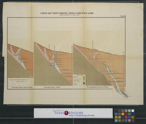 Cross Sections Virginia Mines, Comstock Lode, Plate 10
