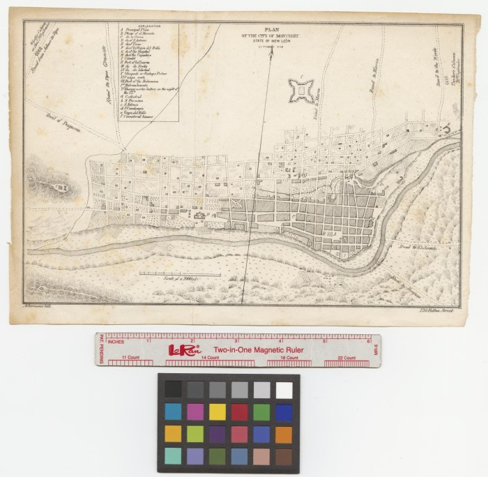 Plan Of The City Of Monterey State Of New Leon Mexico The Portal