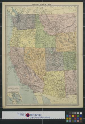 Primary view of object titled 'United States: V. West [from Rocky Mountains to Pacific coast]'.