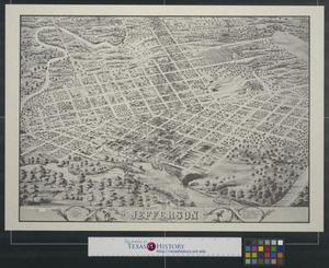 Primary view of object titled 'Bird's eye view of Jefferson Texas.'.