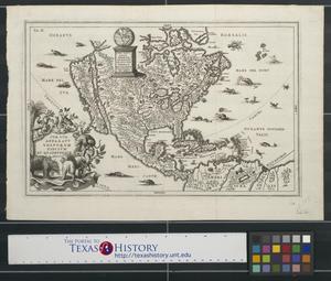 Primary view of Idea naturalis Americae Borealis digito dei formata geographice proposita an MDCC.