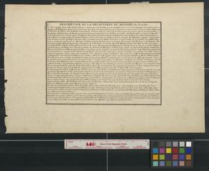 Primary view of Les costes aux environs de la riviere de Misisipi: decouvertes par Mr. de la Salle en 1683 et reconnues par Mr. le Chevallier d'Iberville en 1698 et 1699 [Sheet 2].