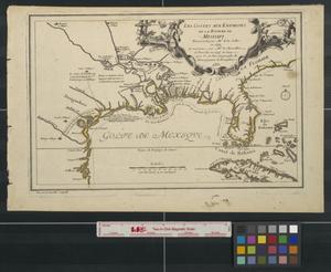 Primary view of Les costes aux environs de la riviere de Misisipi: decouvertes par Mr. de la Salle en 1683 et reconnues par Mr. le Chevallier d'Iberville en 1698 et 1699 [Sheet 1].