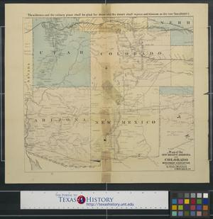 Primary view of object titled 'Map of the New Mexico Arizona and Colorado Missionary Association.'.
