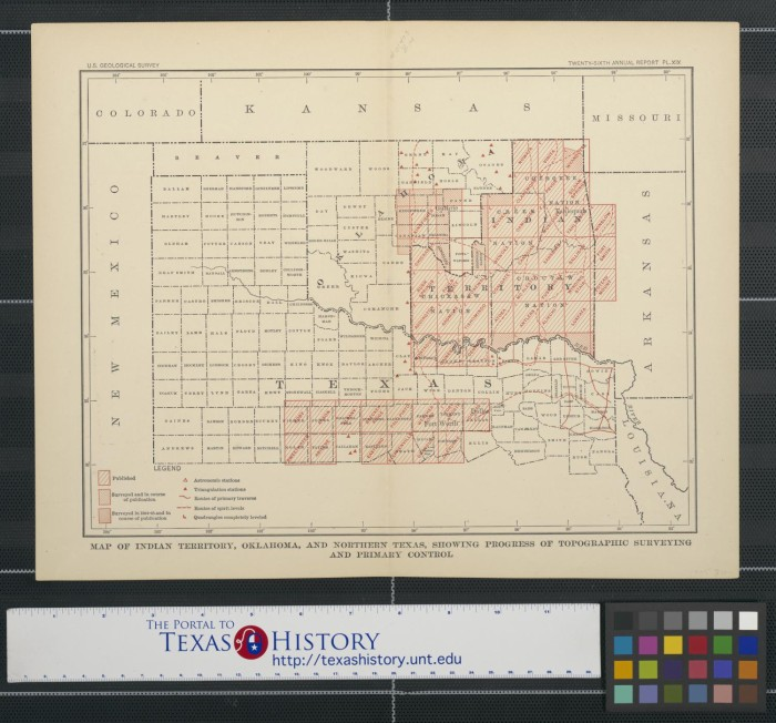 Map Of North Texas And Oklahoma.Map Of Indian Territory Oklahoma And Northern Texas Showing