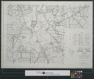 Primary view of object titled 'General highway map Dallas County, Rockwall County, Texas'.