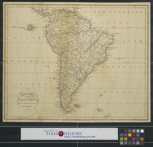 Primary view of A general map of South America drawn from the best surveys.