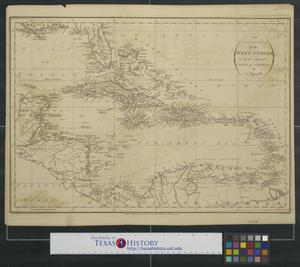 Primary view of An accurate map of the West Indies with the adjacent coast of America