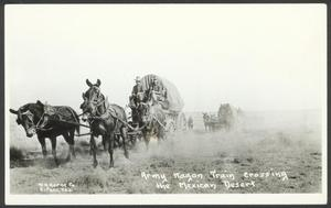 Primary view of object titled '[Army Wagon Train]'.
