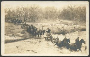 Primary view of object titled '[Artillery Unit Crossing a River]'.