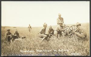 Primary view of object titled '[Mountain Howitzer in Action]'.