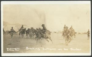 Primary view of object titled '[Breaking Outlaws on the Border #1]'.
