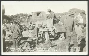 Primary view of object titled '[Transporting a Wounded Soldier]'.
