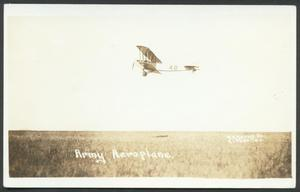 Primary view of object titled '[Army Airplane]'.