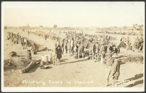 Primary view of object titled '[Military Camp in Mexico]'.