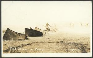 Primary view of object titled '[Sand Storm in Camp]'.