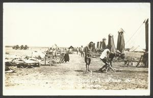 Primary view of object titled '[Camp Scene in the Desert After a Sand Storm]'.