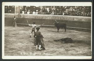 Primary view of object titled '[A Bullfight in Mexico]'.