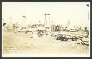 Primary view of object titled '[A Camp Scene at Columbus, NM]'.