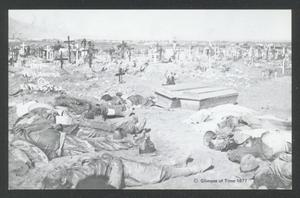 Primary view of object titled '[Bodies in a Cemetery]'.