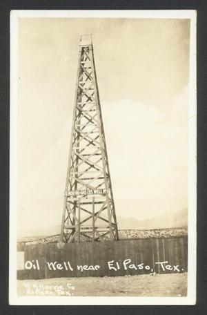 Primary view of object titled '[Oil Well near El Paso, Tex.]'.