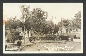 Primary view of object titled '[Washington Park in El Paso]'.