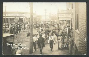 Primary view of object titled '[Juarez, Mexico - Street Scene]'.
