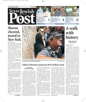 Texas Jewish Post (Fort Worth, Tex.), Vol. 59, No. 21, Ed. 1 Thursday, May 26, 2005