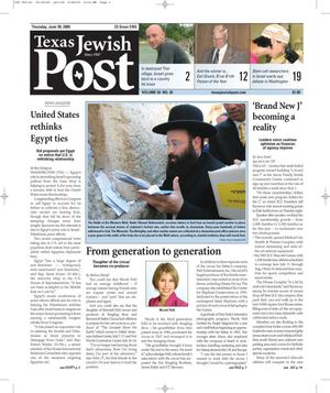 Primary view of object titled 'Texas Jewish Post (Fort Worth, Tex.), Vol. 59, No. 26, Ed. 1 Thursday, June 30, 2005'.