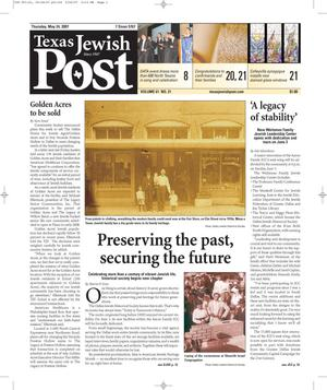 Primary view of object titled 'Texas Jewish Post (Fort Worth, Tex.), Vol. 61, No. 21, Ed. 1 Thursday, May 24, 2007'.
