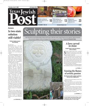 Primary view of object titled 'Texas Jewish Post (Fort Worth, Tex.), Vol. 61, No. 28, Ed. 1 Thursday, July 12, 2007'.