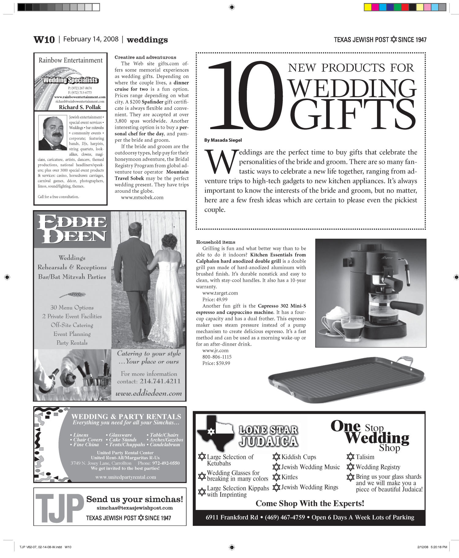Texas Jewish Post (Fort Worth, Tex.), Vol. 62, No. 7, Ed. 1 Thursday, February 14, 2008                                                                                                      [Sequence #]: 32 of 34