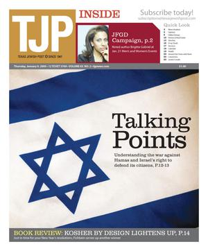 Primary view of object titled 'Texas Jewish Post (Fort Worth, Tex.), Vol. 63, No. 2, Ed. 1 Thursday, January 8, 2009'.