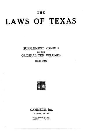 Primary view of object titled 'The Laws of Texas, 1937-1939 [Volume 31]'.