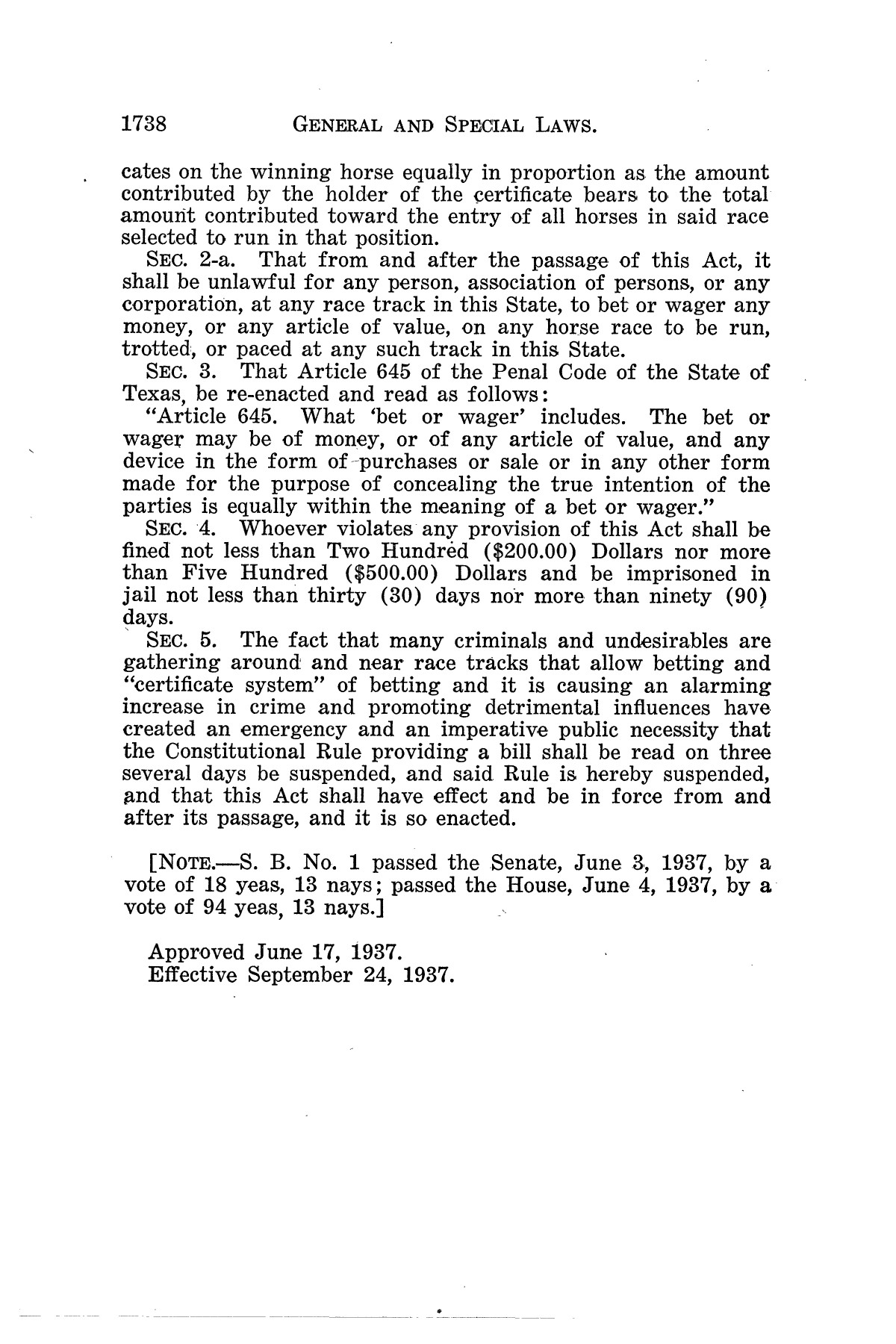 The Laws of Texas, 1937-1939 [Volume 31]                                                                                                      [Sequence #]: 10 of 1313