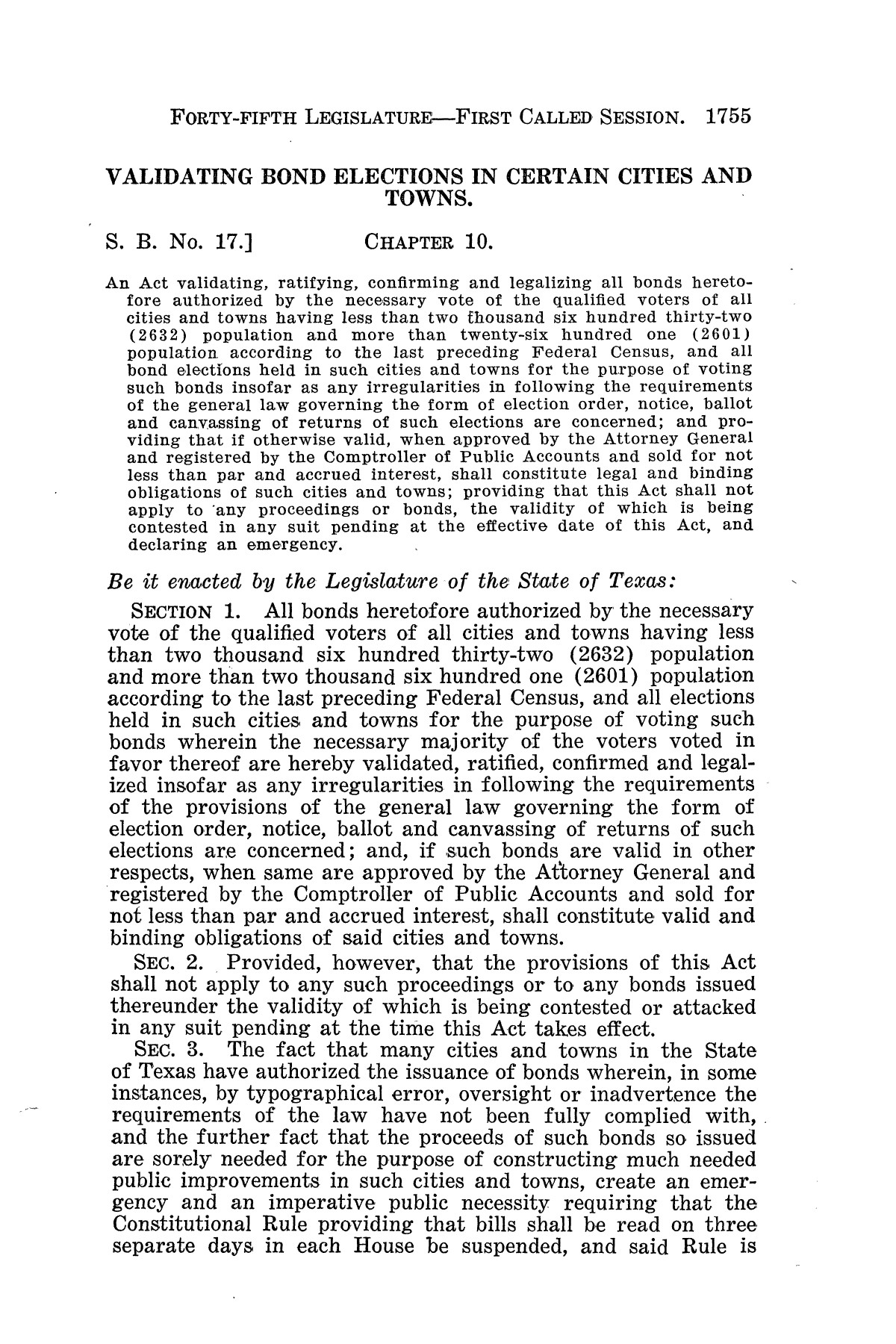 The Laws of Texas, 1937-1939 [Volume 31]                                                                                                      [Sequence #]: 27 of 1313