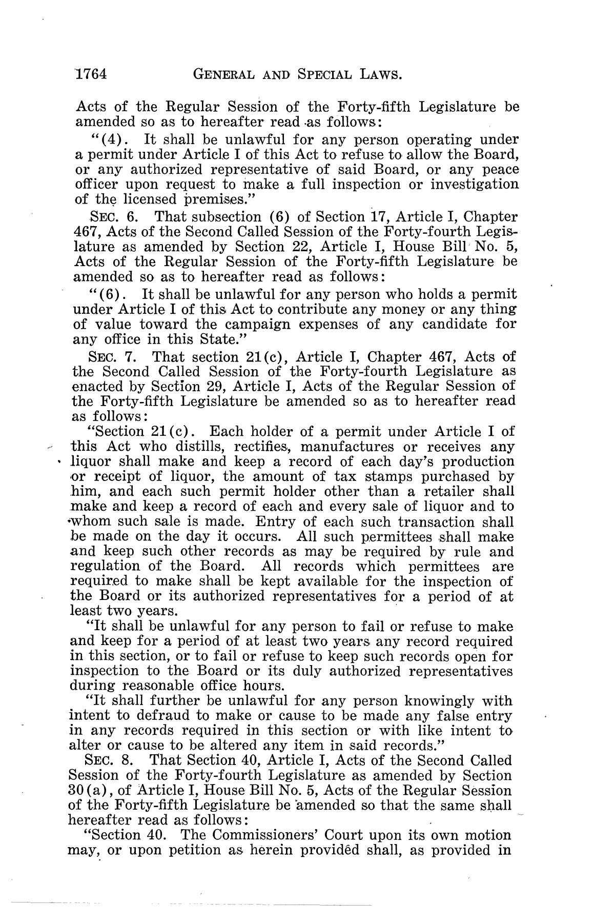 The Laws of Texas, 1937-1939 [Volume 31]                                                                                                      [Sequence #]: 36 of 1313