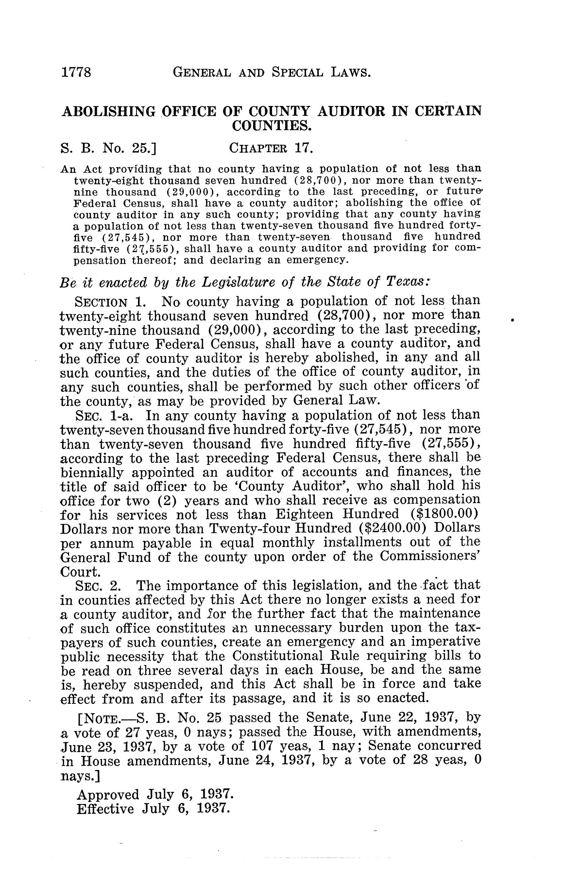The Laws of Texas, 1937-1939 [Volume 31]                                                                                                      [Sequence #]: 50 of 1313